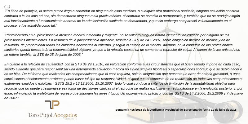 negligencias medicas errores de tratamiento casos reales bufete abogados expertos errores de tratamiento operaciones barcelona madrid errores medicos errores de tratamiento