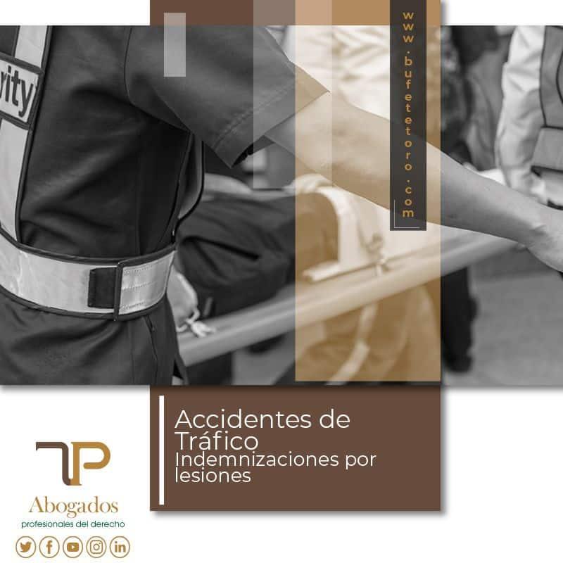 Indemnización por lesiones accidente de tráfico  Abogados Barcelona y Madrid