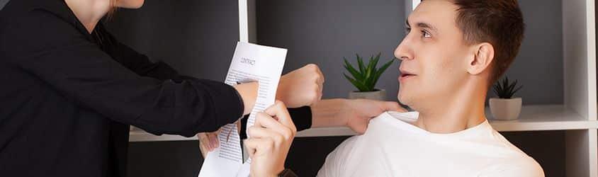 Despido disciplinario causas agresiones